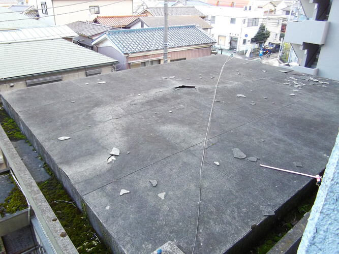 工事前の屋上