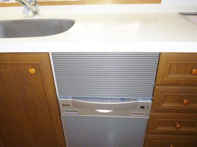 工事後キッチン食洗機