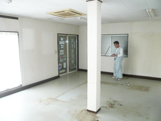 工事後 洋室 広々 商業 事務所