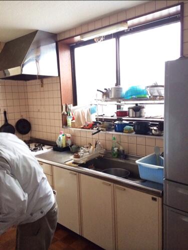 工事前システムキッチン