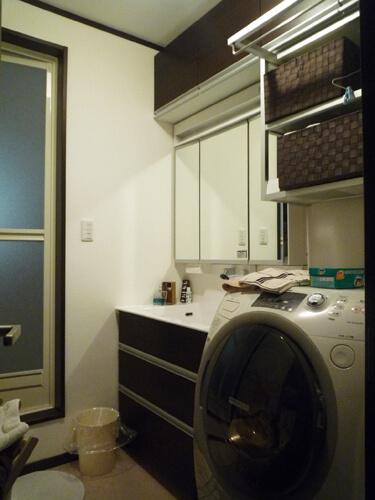 工事後洗面化粧台
