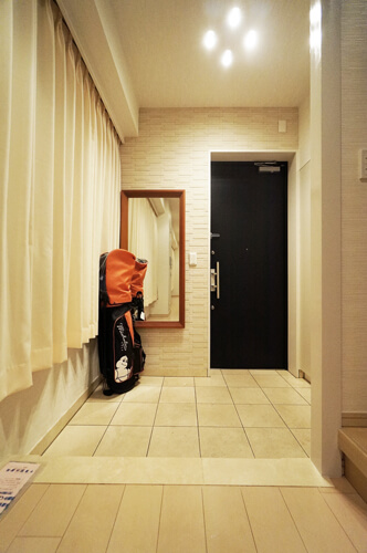 内装工事後玄関